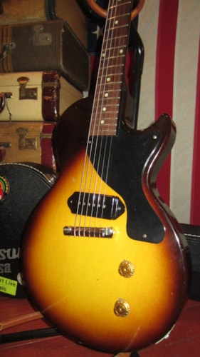 1957 Gibson Les Paul Junior Jr Sunburst, Excellent, Hard, $5,999.00