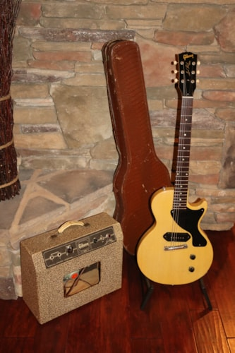 1957 Gibson  Les Paul TV Junior with LP TV JR AMP  TV Yellow, Excellent, Original Soft
