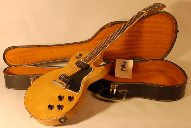 1957 Gibson Les Paul TV Special Limed mahogany,TV yellow