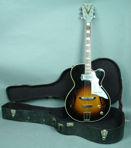 "1957 Kay Barney Kessel ""Artist"" Model K6701 Sunburst Hollowbody Elect Sunburst, Very Good, Hard, $2,795.00"