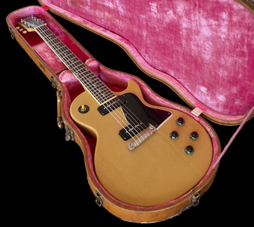 1957 Les Paul TV Special, beautiful Limed Mahogany finish, Original Brown Hard Shell Case