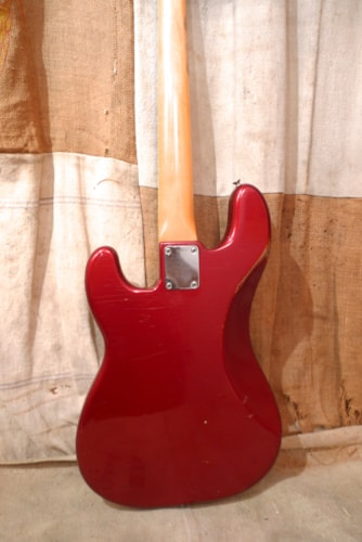 1958 Fender Precision Bass Candy Apple Red, Very Good, Hard