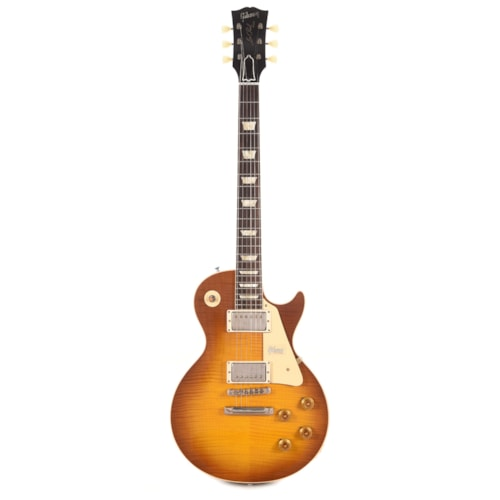 Gibson Custom 1958 Les Paul Standard Plain Top Amber VOS 2019 w/59 Carmelita Neck (Serial #CME90158)