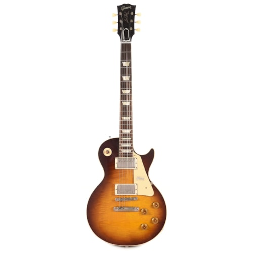 Gibson Custom 1958 Les Paul Standard Plain Top Kindred Burst Fade VOS w/59 Carmelita Neck (Serial #CME90132)