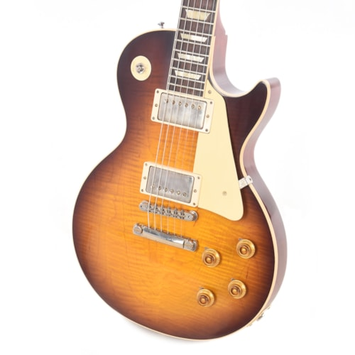 Gibson Custom 1958 Les Paul Standard Plain Top Kindred Burst Fade VOS 2019 w/60 V2 Neck Profile (Serial #CME90114)