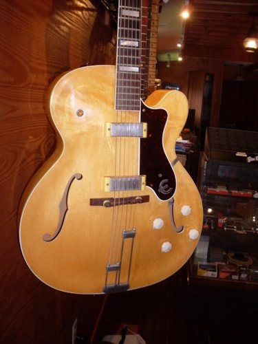 1959 Epiphone Broadway Blonde, Excellent, Original Hard, $4,000.00