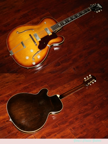 1959 Epiphone Zephyr Cutaway thinline  Sunburst, Excellent, Original Hard