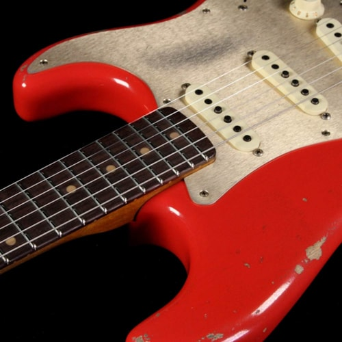 1959 Fender Custom Shop Limited Edition 1959 Stratocaster Heavy Relic Electric Guitar Aged Fiesta Red