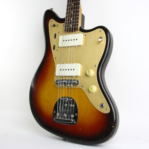 1959 Fender Jazzmaster Sunburst with Gold Anodized Pickguard > Guitars  Electric Solid Body | Thunder Road Guitars PDX