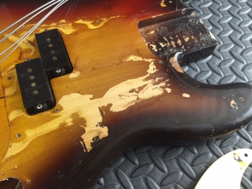 1959 Fender® Precision Bass® Sunburst, Excellent, Hard, Call For Price!
