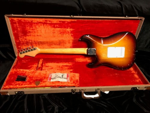 1959 Fender Slab Board Stratocaster Sunburst (SN# 43787) 100% Original