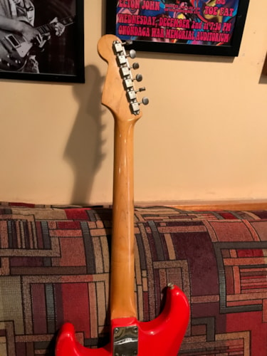 1959 Fender® Sratocaster Fiesta red, Very Good, Original Hard