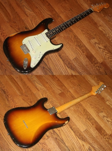 1959 Fender  Stratocaster Sunburst, Very Good, Original Hard, $21,995.00