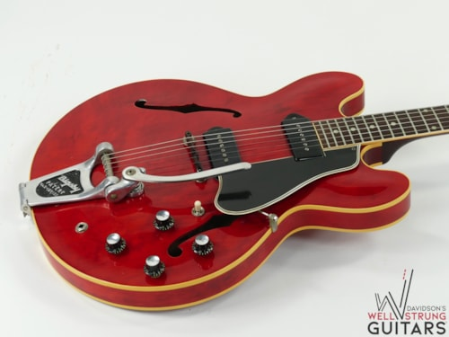 1960 Gibson ES-330 Cherry Factory Grovers and Bigsby