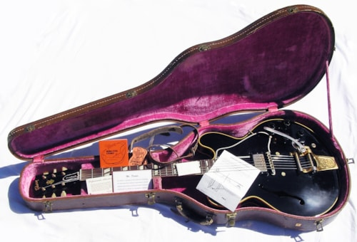 1959 Gibson ES-345 Factory Black Bigsby  Rare Mint with case