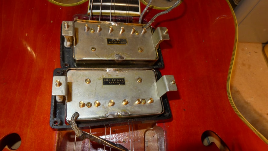1959 Gibson ES-355 Mono Red, Very Good, Original Hard, Call For Price!