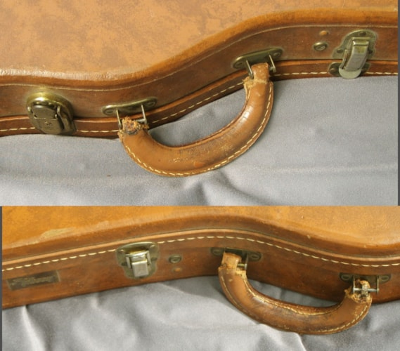 1959 Gibson Lifton 5 latch CASE for Burst Brown, Excellent, Original Hard, Call For Price!