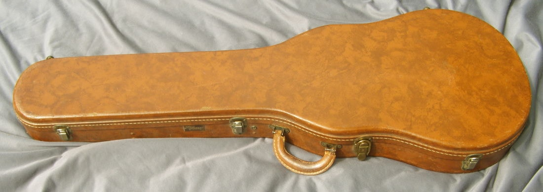 1959 Gibson Lifton 5 latch Les Paul Brown, Excellent, Original Hard, Call For Price!