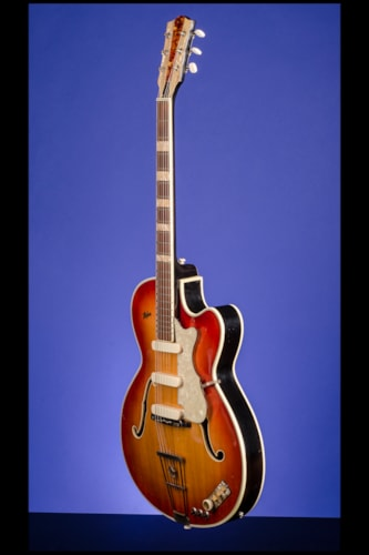 1959 HOFNER Model 457/E3 Cherry Sunburst, Excellent, Original Hard
