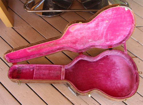 1959 Lifton  Vintage Late 50's Gibson ES-335 Case Brown/Pink, Good