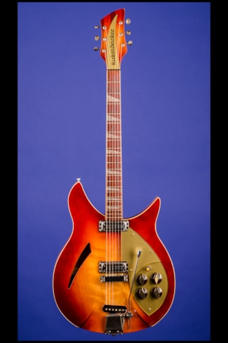 """1959 Rickenbacker 365 """"OS"""" (two pickups, with vibrato) Autumnglow (DK), Mint, Original Hard, $21,500.00"""