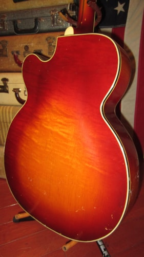 1959 Silvertone Aristocrat Archtop Electric Natural, Excellent, Soft, $1,495.00