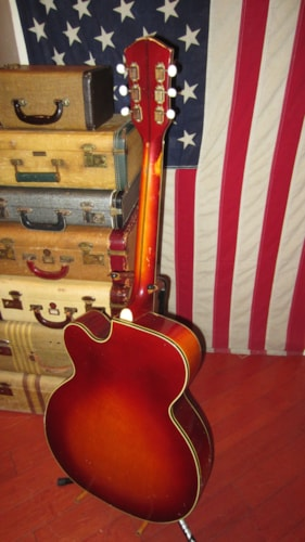 1959 Silvertone Aristocrat Archtop Electric Natural, Excellent, Soft