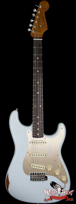 1960 Fender Custom Shop 1960 Stratocaster Relic Roasted Neck Faded Sonic Blue