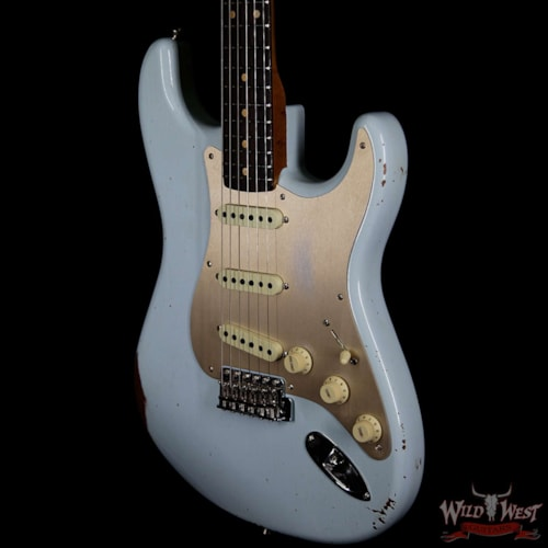 1960 Fender Custom Shop 1960 Stratocaster Relic Roasted Neck Faded Sonic Blue Faded Sonic Blue