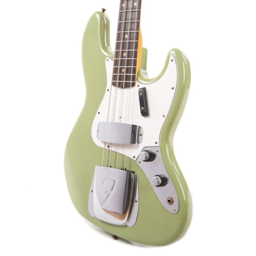 """Fender Custom Shop 1960 Jazz Bass """"CME Spec"""" Relic Faded/Aged Sweet Pea Green w/Painted Headcap (Serial #R98838)"""