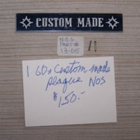 1960 Gibson Custom made plaque