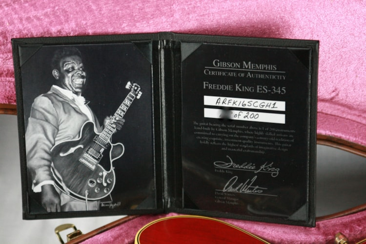 1960 Gibson Memphis Freddie King 1960 ES-345 TDC Cherry Red 1950's Neck! 335 355 Excellent $3,499.00