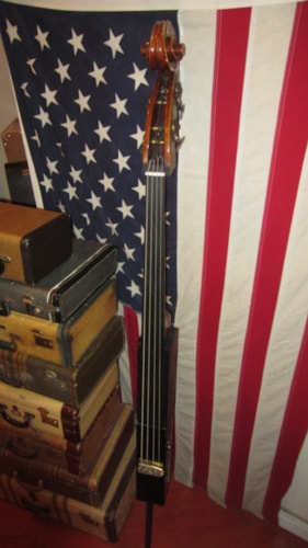 1960 Gino in Brooklyn Electric Upright Bass Black and Brown, Excellent, $495.00