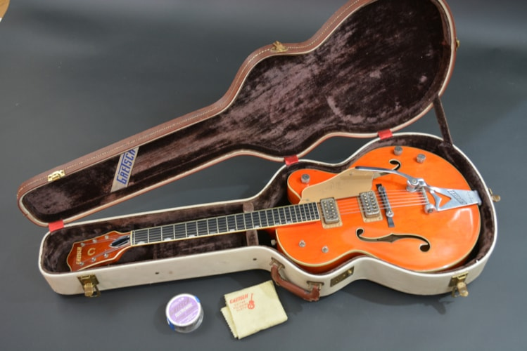 1960 Gretsch 6120  Orange, Excellent, Original Hard