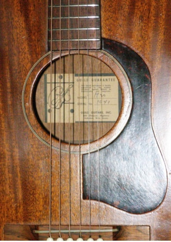 "1960 Guild  M 20 ""Ghost Label"" - original and nice! Natural Mahogany"