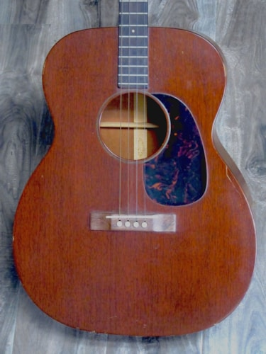 1960 Martin 0-15T Tenor Guitar Natural Mahogany, Excellent, Original Soft