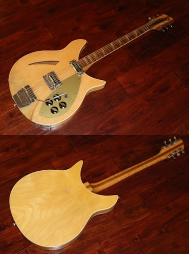 1960 Rickenbacker 365 Capri  Maple Glo, Very Good, Original Hard
