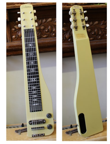 1960 Sekova Lap Steel  Yellow, Excellent, Original Soft