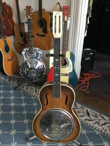 1960 Stella Resonator Acoustic Guitar Tobacco Burst, Excellent
