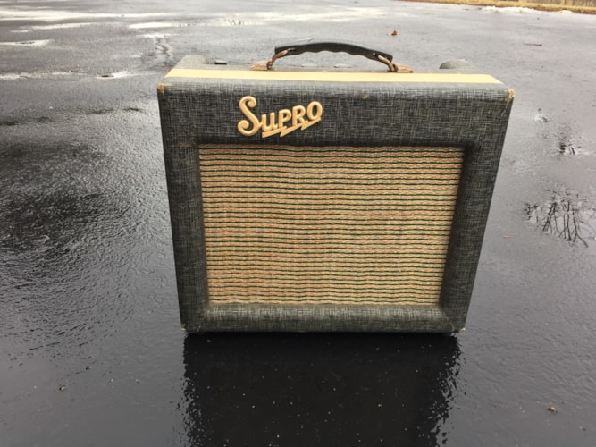 1960 Supro 1606 Grey & White, Very Good, $1,398.00