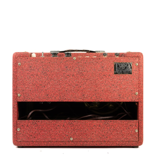 1960 Teisco 71-R 1x6 Combo Amp Red, Very Good, $599.00