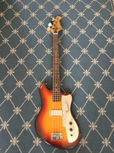 1960 Teisco Bass Guitar Burst, Good