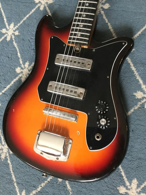 1960 teisco electric guitar sunburst guitars electric solid body mikes music. Black Bedroom Furniture Sets. Home Design Ideas