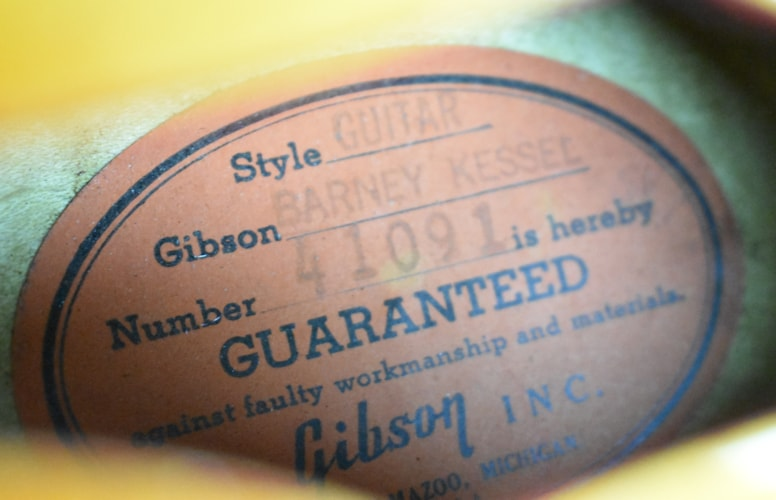 1961 Gibson Barney Kessel Standard Sunburst PAF Hollowbody Archtop Guita Sunburst, Excellent, Original Hard, $7,495.00