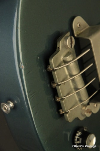 early 1961 Gibson EB-0 Bass refinished PELHAM BLUE!!!