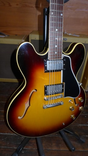 1961 Gibson ES-335 Sunburst, Excellent, Original Hard, $13,000.00