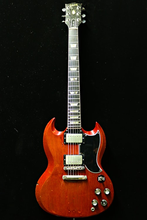 1961 gibson les paul sg cherry guitars electric solid body guitare collection. Black Bedroom Furniture Sets. Home Design Ideas
