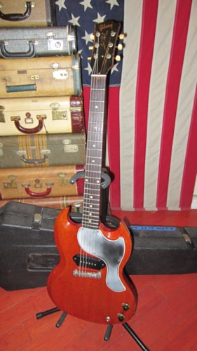1961 Gibson Les Paul SG Junior JR Cherry Red, Excellent, Hard, $3,999.00