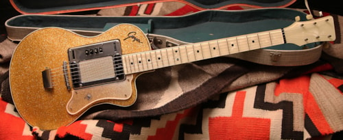 1961 Goya Model 80 Gold Sparkle, Excellent, Original Hard, $2,200.00