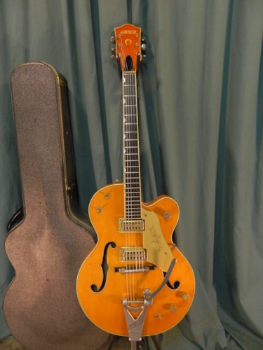 1961 Gretsch Chet Atkins Hollowbody 6120 Orange, Very Good, Original Hard